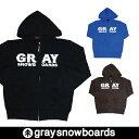 graysnowboardsグレイスノーボードFRONT ZIP PARKAフロントジップパーカーロゴパーカーフーデットパーカーメンズレディースアパレルGRAY...