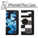 【Alive Athletics】【iPhoneケース】ALIVE (アライブ) iPhone6Plus Case (アイフォン6プラスケース)手帳型ケース秋冬NEW【メール便対応可】