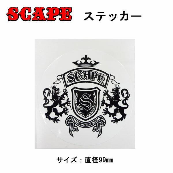 SCAPE【エスケープ】ステッカー[4] エンブレム Big  [アウトレット]