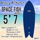 [即出荷可能][送料無料] WATER RAMPAGE ウォーターランページ サーフボード SPACE FISH 5'7 NAVY ショートボード ソフトボード フィッシュ スポンジボード