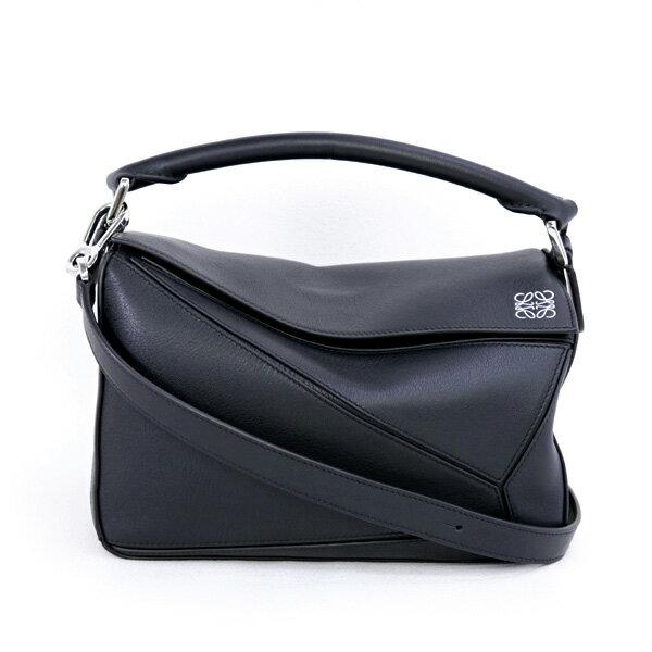 2018年春夏 ロエベ LOEWE バッグ PUZZLE SMALL BAG パズル スモール 5WAY ハンドバッグ ブラック (322.30.S21 1100 BLACK)