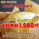 【期間限定約15%オフ】【訳あり送料無料】北海道じゃがいも北あかり(10kg)※説明書きを十分ご覧の上ご注文ください