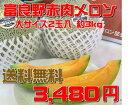 【送料無料】ふらの赤肉メロン(大2玉入り)【7月中旬〜発送スタ−ト】※着日指定不可商品です