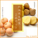 北海道産野菜2品セット(北あかり5kg・たまねぎ4kg)