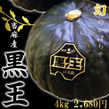 【幻の逸品】北海道当麻産かぼちゃ「黒王」(約4kg、2〜4玉)