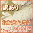 【訳あり】北海道産長芋(約10kg)※現在の価格は3980円です