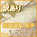 【訳あり】北海道産長芋(約5kg)※現在の価格は2280円です