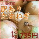 【訳あり】北海道産たまねぎ(4.5kg入)
