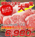 【ハラミ・サガリ】北海道産限定厳選国産牛ハラミ・サガリ 1kg焼肉福袋!【はらみ・さがり】