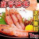 【送料無料】大サイズナンバンエビ(甘えび)約1kg前後!刺身で食べられるほど鮮度が桁違いに良い獲れたて品[えび/海老](冷凍)【smtb-td】