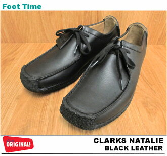 CLARKS NATALIE BLACK LEATHER