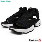 REEBOK INSTA PUMP FURY SANDAL WOMEN リーボック インスタ ポンプ フューリー サンダル BLACK/WHITE/GOLD MET ブラック/ホワイト/ゴールド V69436 靴 レディース靴 サンダル