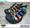 KEEN NEWPORT H2 [Kean Newport H2] TIE DYE BLACK 1008104