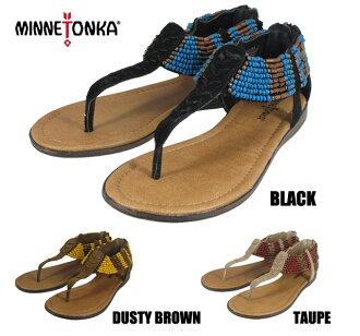 Minnetonka Ibiza MINNETONKA IBIZA 71301 TAUPE/BLACK/DUSTY BROWN