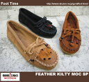 MINNETONKA FEATHER KILTY MOC SP460/462/467【미네톤카페자키르티목스페샤르】BLACK/BROWN/TAUPE