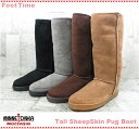 MINNETONKA Tall SheepSkin Pug Boot 3581 3588 3589 3581 T【미네톤카토르시프스킨파그브트】4 color