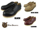 �ӥ� ����ե��ƥ� ������å����ե����� ��å��ȥ� VIVA GRAFFITI WORK OXFORD MOC TOE 3 COLORS BLACK BEIGESUEDE R.BROWN VG-7604fs04gm