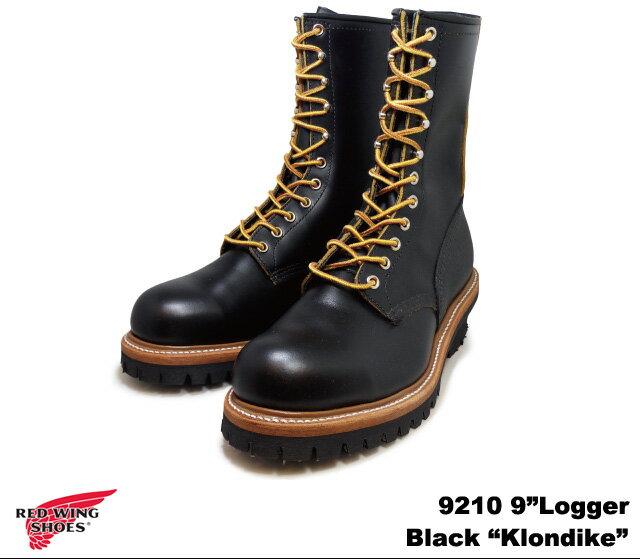 純正ケア用品2点プレゼント レッドウイング ブーツ アイリッシュセッター 9210 ロガー ブラック クローンダイク ワークブーツ RED WING Logger Black