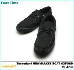 ティンバーランド ニューマーケット ボート オックスフォード TIMBERLAND NEWMARKET BOAT OXFORD ブラック BLACK 6151A M:width メンズ デッキ キャンバス シューズ  『送料無料』