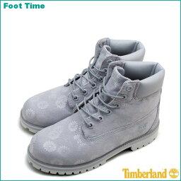 ティンバーランド ジュニア 6インチ プレミアム ブーツ TIMBERLAND JUNIOR 6IN PREMIUM BOOTS A1759GREY/FLORAL グレー/フローラルレディース ブーツ 『送料無料』