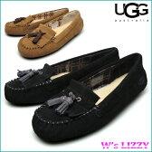 アグ ウィメンズ リジー シープスキン モカシン シューズ UGG W's LIZZY 1005475 BLACK CHESTNUT  『送料無料』
