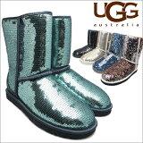 アグ クラシック ショート スパークルズ UGG CLASSIC SHORT SPARKLES 3 colors BLACK SILVER MIDNIGHT 3161 1002978 レディース ムートン シープスキン  送料無料