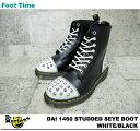ドクターマーチン スタッド パネル ブーツ Dr.MARTENS 1460 STUDDED PANEL BOOTS ホワ...