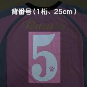 背番号(1桁、25cm)
