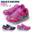 スケッチャーズ ガールズ エスライツ ルミリュクス 10914L キッズ ジュニアスニーカー SKECHERS S LIGHTS LUMI-LUXE 光る靴 ライトアップスニーカー 女の子 ガールズ 靴(1709)(E)