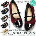ストラップパンプス 1979 レディース 靴 痛くない 歩きやすい 3.5cmヒール