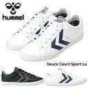 ヒュンメル hummel DEUCE COURT SPORT LOW 63-657 ユニセックスサイズ展開 レディースメンズスニーカー 63657