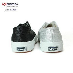 【送料無料】レディーススニーカースペルガ【SUPERGA】2750LAMEWラメゴールドシルバーブラック