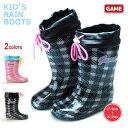キッズ GAME ゲーム 1764 レインブーツ レインシューズ レイン ジュニア キッズ 子供靴 女