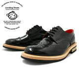 Locking Shoes ��å��󥰥��塼�� WINGTIP SHOES 918 �֥�å��ѥƥ�� by FootMonkey ������ �����󥰥��å� ���ʥ�� �եåȥ�󥭡� ����ȥ꡼���塼�� ��� ���塼�� ����̵�� 2015FW