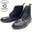 ショッピングカントリー Locking Shoes ロッキングシューズ by FootMonkey フットモンキー カントリーブーツ WINGTIP BOOTS 916 [ネイビー] メンズ ウィングチップブーツ 日本製 送料無料 【コンビニ受取対応】