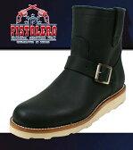 PISTOLERO [ ピストレロ ] 7インチ ペコスエンジニアブーツ 103-01(0812) ブラック-正規品- 送料無料 ラウンドトゥー 革 レザー ワーク ローパー boot ビブラム Vibram 靴 シューズ メキシコ製 グッドイヤーウェルト製法 通販
