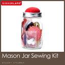 ソーイングセット/裁縫セット/裁縫グッズ/メイソンジャー/ガラスビン/保存瓶/kikkerland/キッカーランド