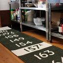 【ポイント10倍】【キッチンマット】【送料無料】キッチン ラグ BUS STATION KITCHEN MAT バスステーション 50×240 洗える 台所 Mercros