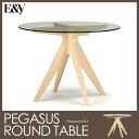 【ポイント10倍】【送料無料】ペガサスラウンドテーブル pegasus round table 丸ガラステーブル E&Y【送料無料】