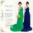 【翌日配送可】カラードレス,エンパイア,5号,7号,9号,11号,13号,15号,17号,19号,21号,ワンショルダーのエンパイアのドレスは同素材のバラのコサージュがシンプルなデザインのドレスにラブリーな印象を与えます。お色直し、二次会用ドレスとしてお勧めです!