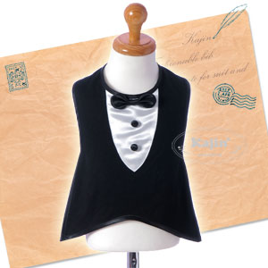 Boy baby bib bib bebisutai baby formal Tuxedo meal brand new wedding birth celebration giveaway