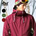 スノーボードウェア メンズ レディース スキーウェア 上下 セット 43DEGREES スノボウェア スノーボード ウェア スノボ スノボー ウエア〈セール品の...