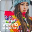 【10月末入荷予定】43DEGREES 新作 スノーボードウェア レディース 上下 スキーウェア セット Butterfly & Feater