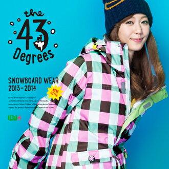 43Degrees 스노우보드 웨어 레이디스 재킷 및 바지 상하 세트 ☆ Style_H No.74 ~ 89 선택할 수 있는 컬러 발리 기준 패턴! 당신만의 오리지날 코드 ☆ fs3gm