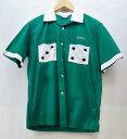 WARE HOUSE (ウエアハウス) 半袖 刺繍ボーリングシャツ サイズ:M  カラー:グリーン【中古】【アメカジ】【鈴鹿 併売品】【1280712OS】