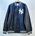 Supreme×New York Yankees×47Brand (シュプリーム×ニューヨークヤンキース×フォーティーセブンブランド) Leather Varsity Jacket …