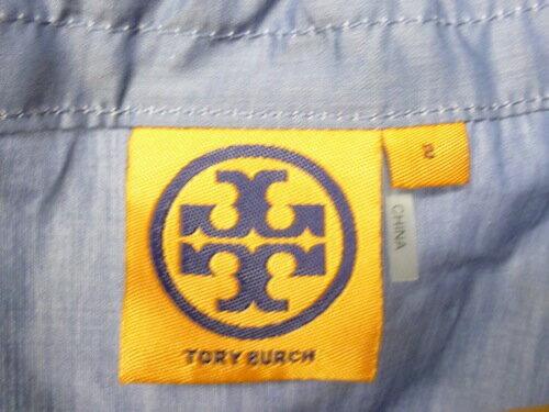 TORY BURCH トリーバーチ S/Sタイトワンピース ブルー【中古】【レディーストップス】【四日市 併売品】【1320007XY】