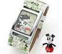 値引きのないDisney ディズニーが特別価格で!【71%OFF】Disney ディズニー 腕 [時計ケース付] ミッキー レクタンギュラーダブルウォッチ [時計ケース付] グリーン MC-3G1286U-002GN [総額10.500円以上送料無料]