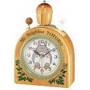 目覚まし時計 置き時計 シチズン リズム時計 RHYTHM CITIZEN トトロ 木製ベル音アラーム R455N 4RA455MN06 ブラウン CITIZEN