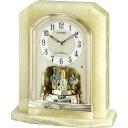 置き時計 置時計 電波時計 シチズン パルラフィーネ R691 オニックス枠 4RY691-005 CITIZEN